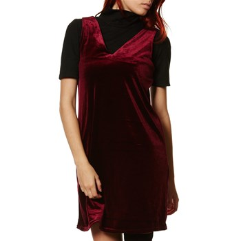 Agnes - Robe en velours - bordeaux