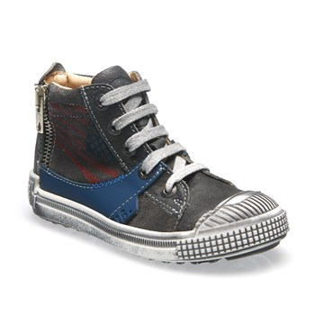 Walter - Sneakers alte in pelle - antracite