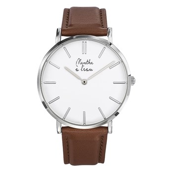 Montre en simili cuir - marron