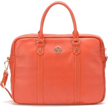 Porte-documents en cuir - orange