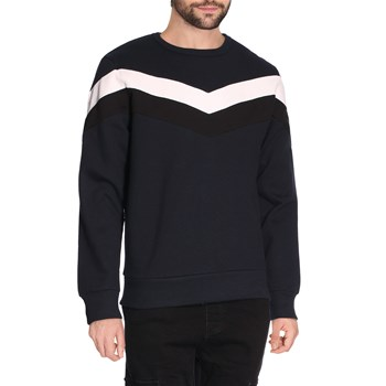 Sweat-shirt col rond - bleu marine