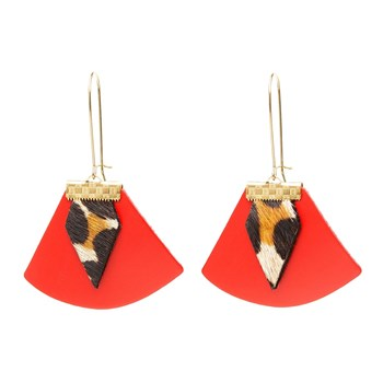 Charly James - Pendants en cuir - rouge