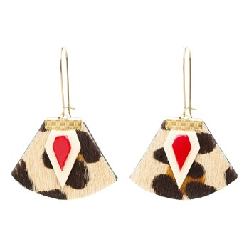 Charly James - Nadja - Boucles d'oreilles en cuir - multicolore
