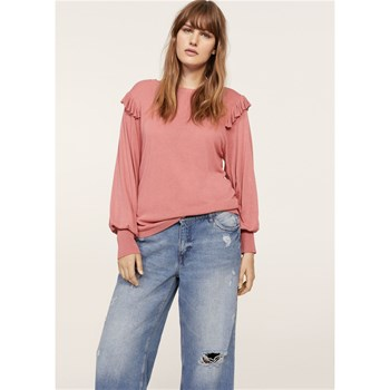 Pull-over à manches bouffantes - rose