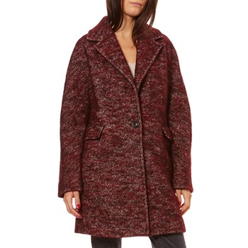 Manteau 30% laine - bordeaux