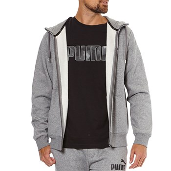 Puma - PERMA ESS N°1LOG - Sweat à capuche - gris
