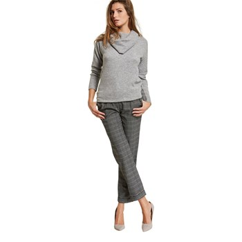 Pull col boule - gris clair