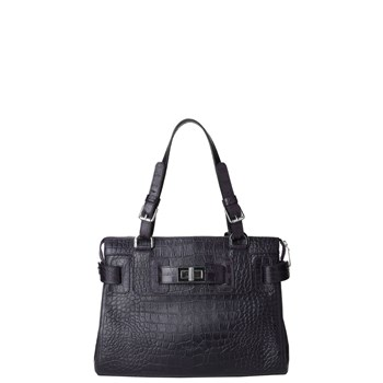 Kate croco grace - Sac à main en cuir - violet