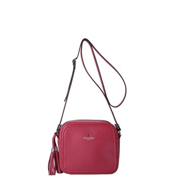 Mia country - Sac besace en cuir - rose