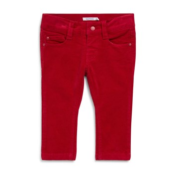 Pantalon slim en velours - rouge