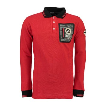 Geographical Norway - Polo manches longues - rouge