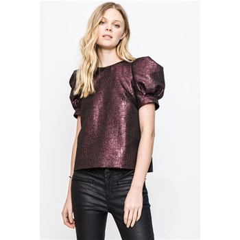 Paradise - Blouse manches ballons - prune