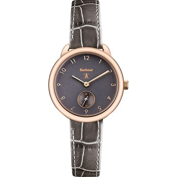 Barbour - Montre avec bracelet en cuir - marron