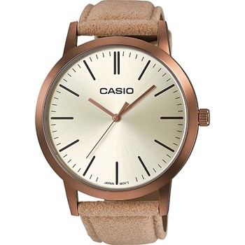 Casio - Collection - Montre analogique en cuir - beige