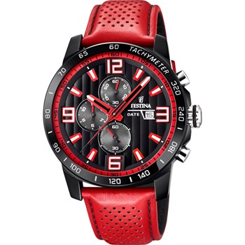 Originals - Montre en cuir - rouge