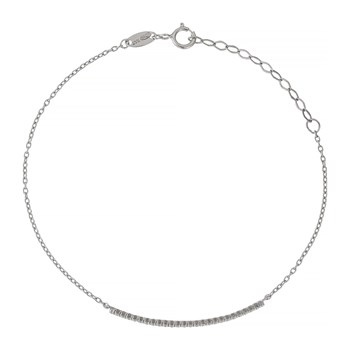OR Bella - Bracelet barette en or blanc