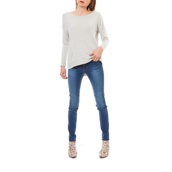 CHEN - Pull long - gris clair
