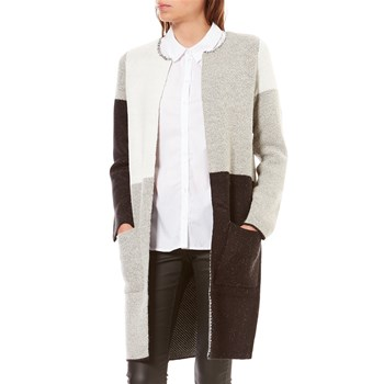 Noisy May - NINA - Gilet long - gris clair