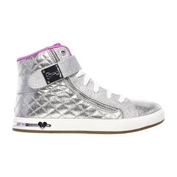 Shoutouts - quilted crush - Zapatillas de caña alta - plateado