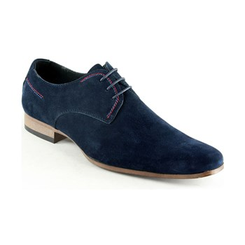 Derby in pelle - blu scuro