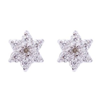 Or Eclat - For her - Boucles d'oreilles en or blanc