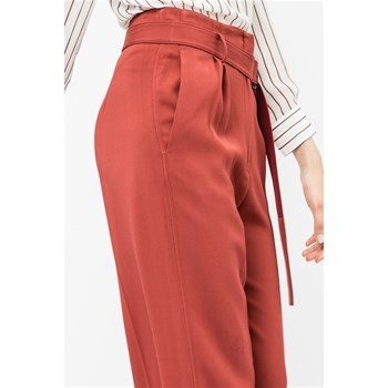Savannah - Pantalon flare ceinturé - orange