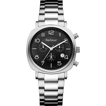 Barbour - Beacon Chrono - Montre avec bracelet en métal - gris