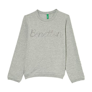 Sweat-shirt brodé - gris