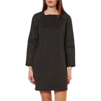 Benetton - Robe empiècements texturés - noir