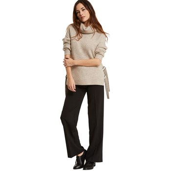 Pull col montant - marron