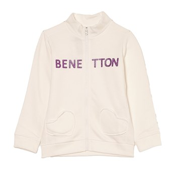 Benetton - Sweatjacke - beige