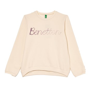 Sweat-shirt imprimé - beige