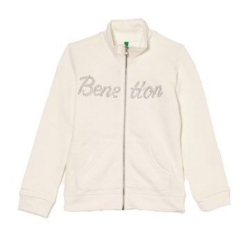 Benetton - Sweatjacke - weiß