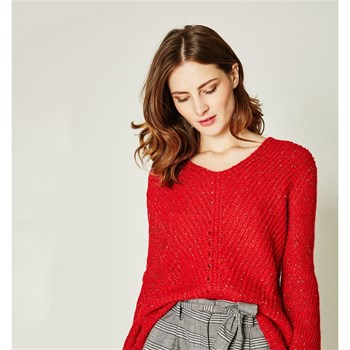 Pull moelleux - rouge