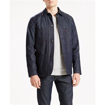 Lined Selvedge Utility Coat - Giacca in jeans - blu grezzo