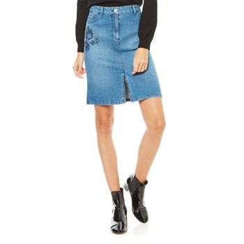 Caroll - Falda recta - denim azul