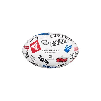 Ballon de rugby - multicolore