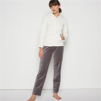Pantalon en velours - gris chine
