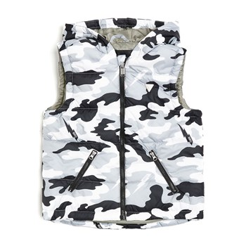 Gilet court - army