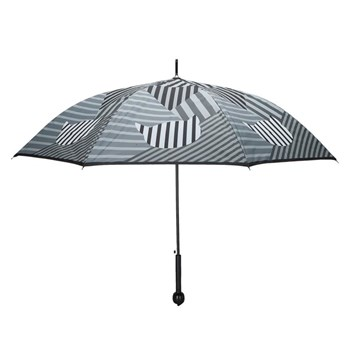 Grand parapluie rayures chat - noir