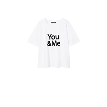 T-shirt à message - blanc