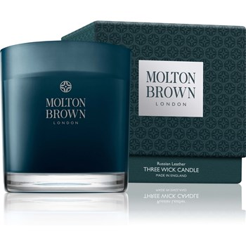 Molton Brown - Russian Leather - Bougie 3 mèches - 480 g