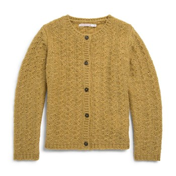 Cardigan fantaisie - moutarde