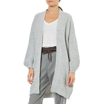 Only - Gilet long - gris clair