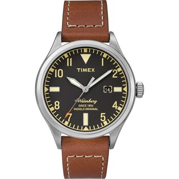 The Waterbury - Montre avec bracelet en cuir - marron