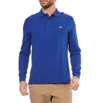 Polo manches longues - blu