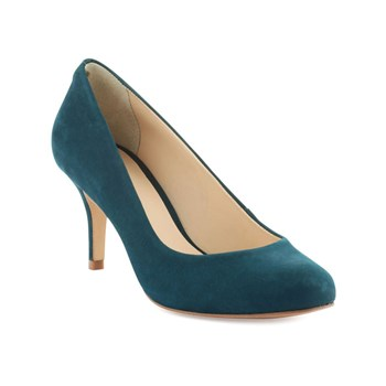 Jennie - Pumps aus Leder - petrolblau