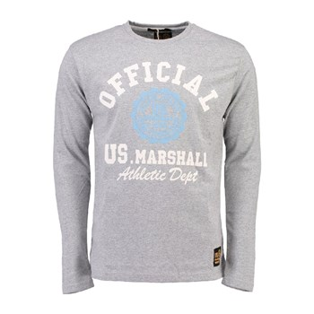 US Marshall - Jofficial - T-shirt manches longues - gris souris