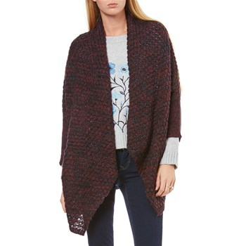 Gilet long - lie de vin
