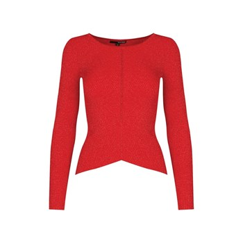 Pull en lurex - rouge